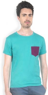 Do U Speak Green Solid Men's Round Neck Green T-Shirt