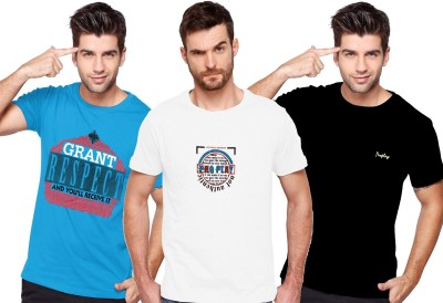 Proplay Printed Men's Round Neck Multicolor T-Shirt