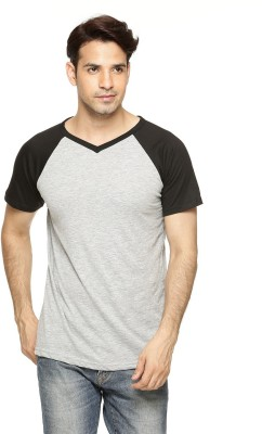 Being Crazy Solid Men,s V-neck T-Shirt