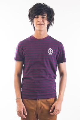 Srota Striped Men's Round Neck Blue, Purple T-Shirt