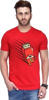Andshand Graphic Print Men,s Round Neck Red T-Shirt