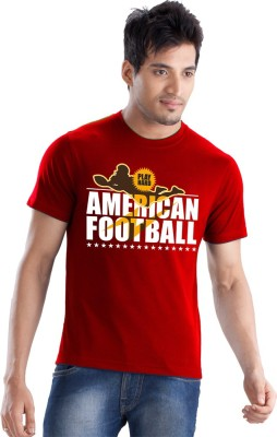 Force Go Wear Graphic Print Men's Round Neck Red T-Shirt