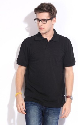 Happy Hours Solid Men's Polo Neck T-Shirt