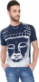Dbox Printed Men's Round Neck Blue T-Shi...
