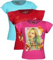 Jazzup Printed Girl's Round Neck T Shirt