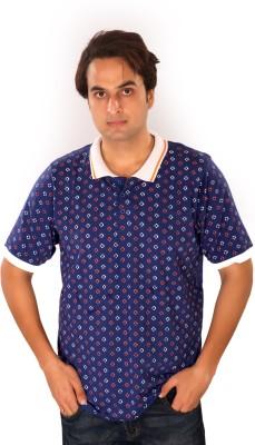Maggivox Printed Men's Polo Dark Blue, White T-Shirt