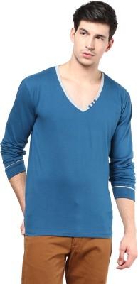 Izinc Solid Men,s V-neck T-Shirt