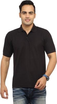 Zevog Solid Men's Polo Black T-Shirt
