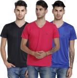 BlackCatz Solid Men's V-neck T-Shirt