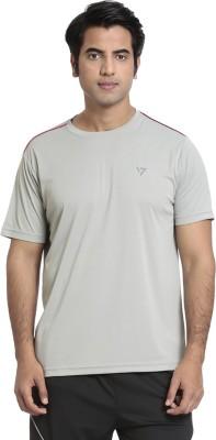 SEVEN Solid Men's Round Neck Grey T-Shirt