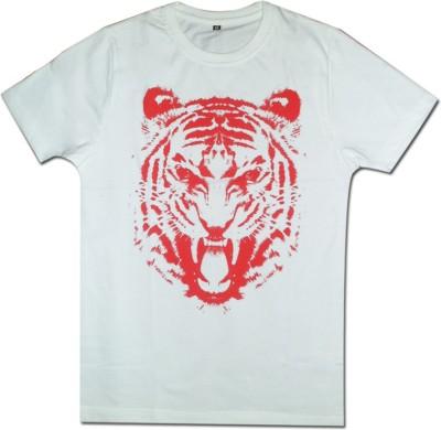 Guddi Creation Graphic Print Men's Round Neck White T-Shirt
