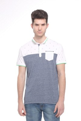 OCTAVE Solid Men's Polo Grey T-Shirt
