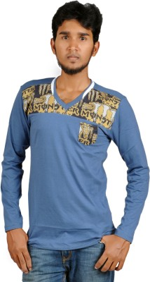 Harsha Printed Men's V-neck T-Shirt