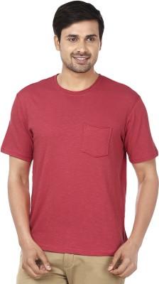 Ruse Solid Men's Round Neck Pink T-Shirt