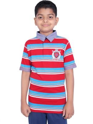 Duke Striped Boy's Polo Neck T-Shirt