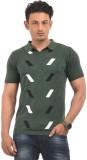 AMX Striped Men's Polo Neck Dark Green T...