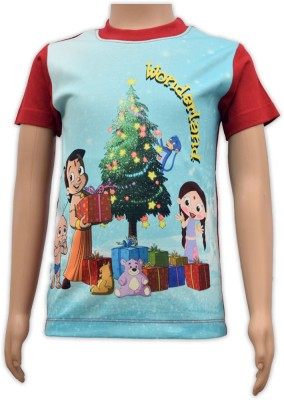 Chhota Bheem Printed Boy's Round Neck Multicolor T-Shirt