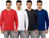 Rawpockets Solid Men's Henley Multicolor...