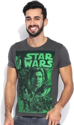 Kook N Keech Star Wars Printed Men's Round Neck Grey T-Shirt