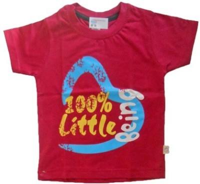 NammaBaby Self Design Baby Boy's Round Neck Red T-Shirt