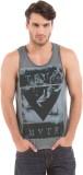 Shuffle Printed Men's Round Neck Grey T-...