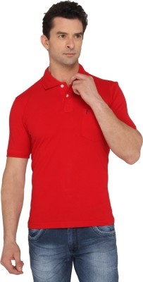 Donear NXG Solid Men's Polo Neck Red T-Shirt