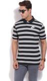 Nike Striped Men's Polo Neck Black T-Shi...