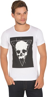 Alan Jones Graphic Print Men's Round Neck White T-Shirt