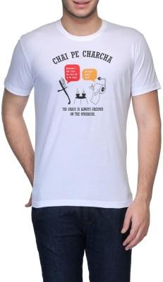 Rootstock Printed Men's Round Neck White T-Shirt