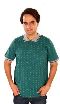 Maggivox Printed Men's Polo Green T-Shirt