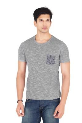 Webmachinez Solid Men's Round Neck Grey T-Shirt