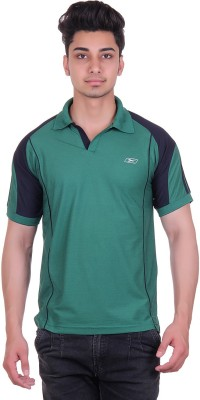 EX10 Solid Men,s Polo Neck Green T-Shirt