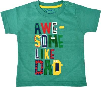 PEPITO Printed Baby Boy,s, Baby Girl's Round Neck Green T-Shirt