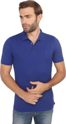 Calvin Klein Solid Men's Polo Neck Blue T-Shirt
