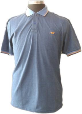 TOC Self Design Men's Round Neck Light Blue T-Shirt