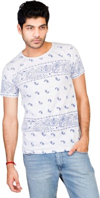 Wynn Paisley Men's Round Neck T-Shirt