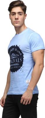 UJC Graphic Print Men's Round Neck Light Blue T-Shirt