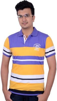 Thread Craft Striped Men's Polo Neck T-Shirt