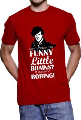 Fanideaz Printed Men's Round Neck Red T-Shirt