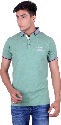 All Ruggby Printed Men's Polo Neck Green T-Shirt