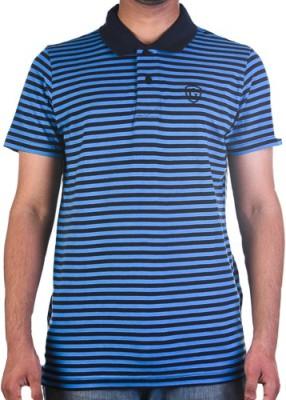 Garushi Striped Men's Polo Neck Reversible Multicolor T-Shirt