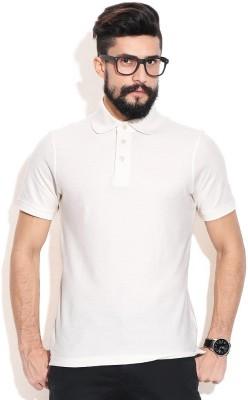 Jura Polo Solid Men's Polo Neck White T-Shirt