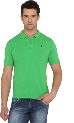 Donear NXG Solid Men's Polo Neck Green T-Shirt