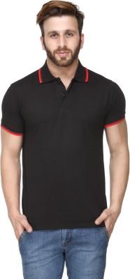 Scott International Solid Men's Polo Black T-Shirt