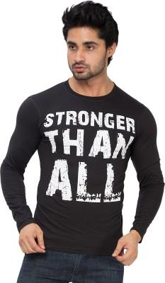 Alan Jones Graphic Print Men's Round Neck Black T-Shirt