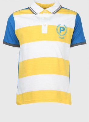 Poppers by Pantaloons Striped Boy's Polo T-Shirt