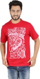 Checkersbay Printed Men's Round Neck Red...
