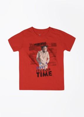 Allen Solly Junior Printed Boy's Round Neck T-Shirt