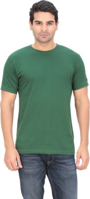 Indian Engineer Solid Men's Round Neck Green T-Shirt