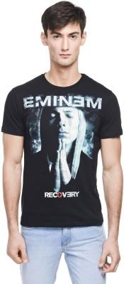 Eminem Printed Men's Round Neck Black T-Shirt